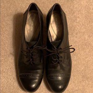 Black Oxford-Style Heels